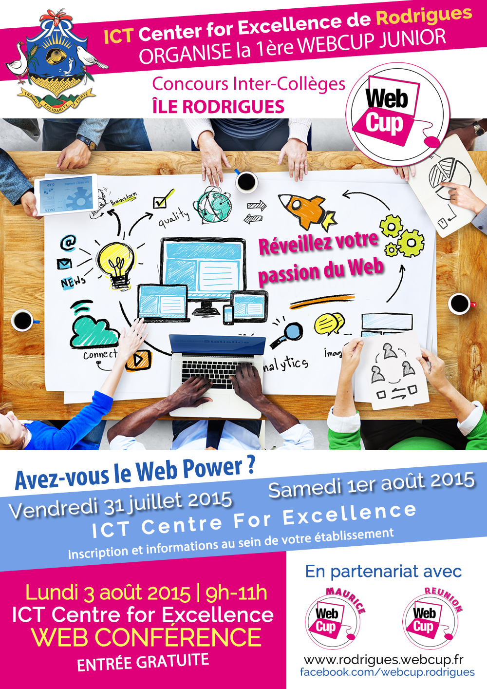 Affiche Webcup Junior Rodrigues